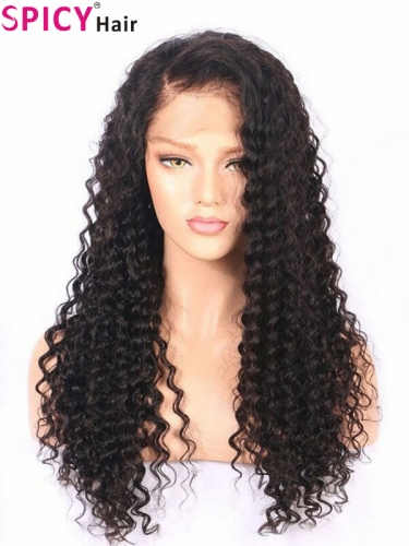 200% density no tangle deep wave full lace wig
