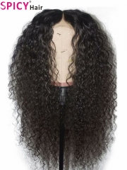Spicyhair 200% density no tangle no shed curly 360 lace wig