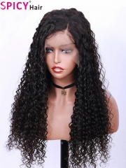 Spicyhair 180% density no tangle deep wave lace front wig
