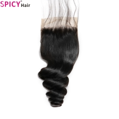 Spicyhair Tangle free 10A loosewave  4×4 lace closure