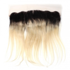 Spicyhair 100% DHL Free Shipping  No Tangle 1b/613 Straight Frontal