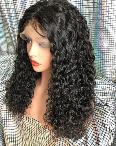 Spicyhair  no shedding selling directly from factory water wave full lace wig