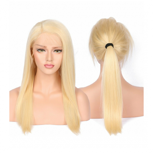 Spicyhair Top Quality 150% density #613 Silky straight 360 lace wig