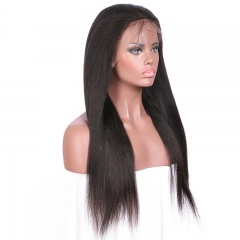 100% no shedding kinky straight 360 lace wig