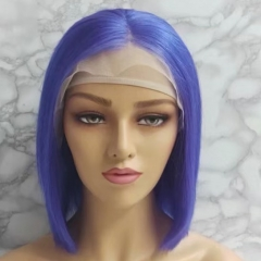 Spicyhair 180% density Fashional Looking blunt cut bob wig pink color Bodywave bob lace front wig