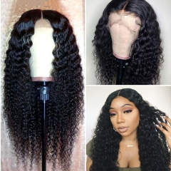 Spicyhair 200% density no tangle no shed Deep curly full lace wig